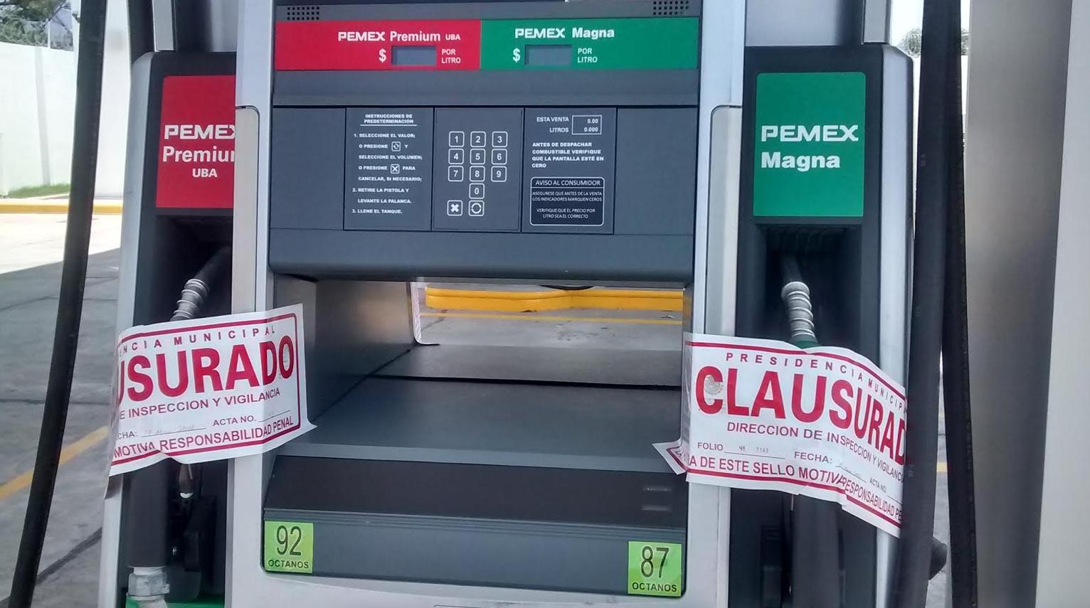 gasolineras clausuradas