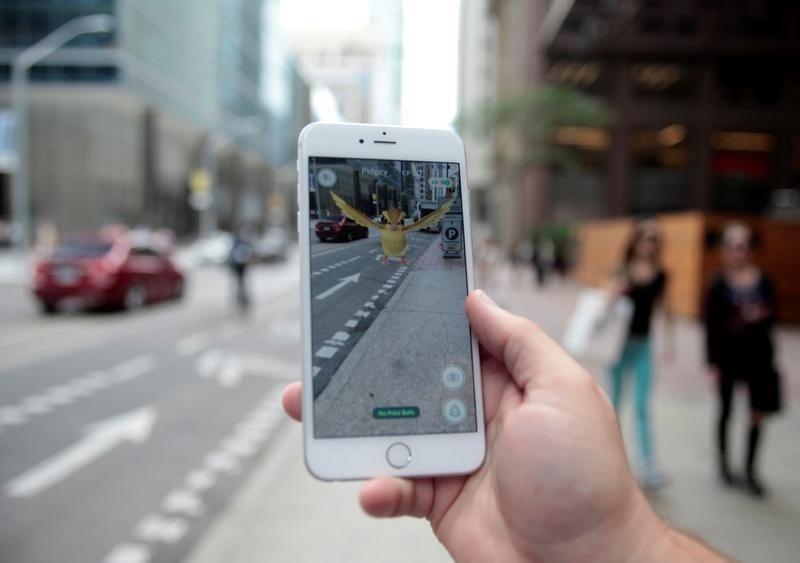 En la imagen, un Pokemon en un móvil con la aplicación Pokemon Go en Toronto, el 11 de julio de 2016