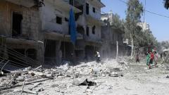 Alepo, Siria, Ataque químico de Guta, Ejército Árabe Sirio