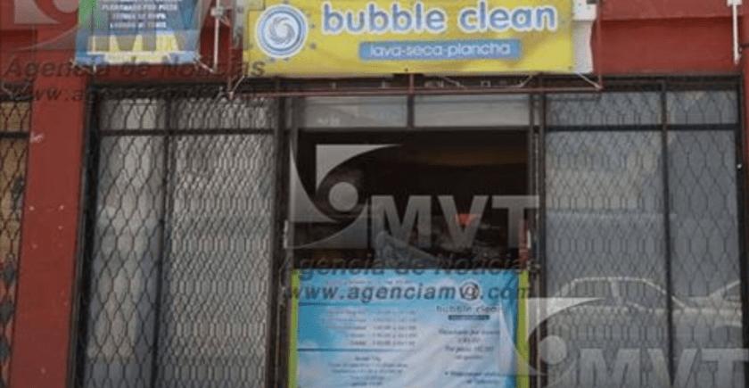 Funcionaria de Toluca clausura lavandería por que no le gusto como le dejaron la ropa