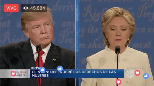 #EnVivo Tercer debate Donald Trump y Hillary Clinton