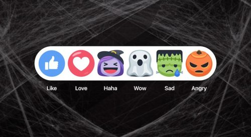 Reacciones de Facebook  máscaras de Halloween