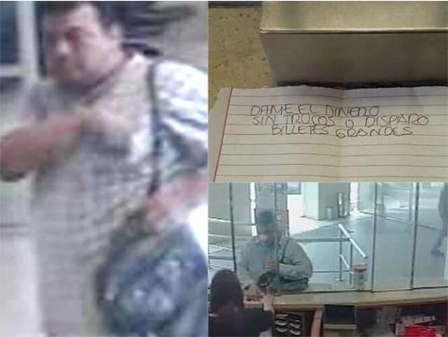 """""""Dame el dinero o disparo"""" con recados asaltaba bancos en Monterrey"""