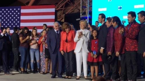 Clinton, de fiesta con Vicente Fernández y Los Tigres del Norte