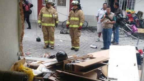 Explota tanque de gas estacionario en la colonia Morelos