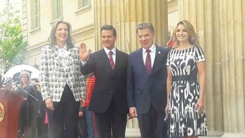 Peña Nieto y Santos sostienen encuentro en Colombia