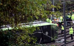 Britain Tram Derailed