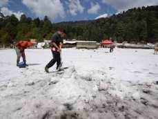 nieve y granizo