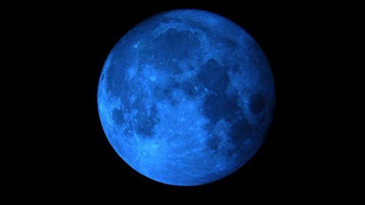 luna de sangre azul