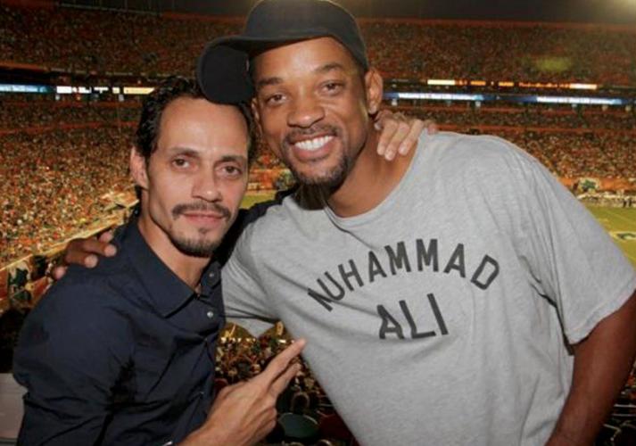 Marc Anthony le enseña como bailar salsa a Will Smith (VÍDEO)