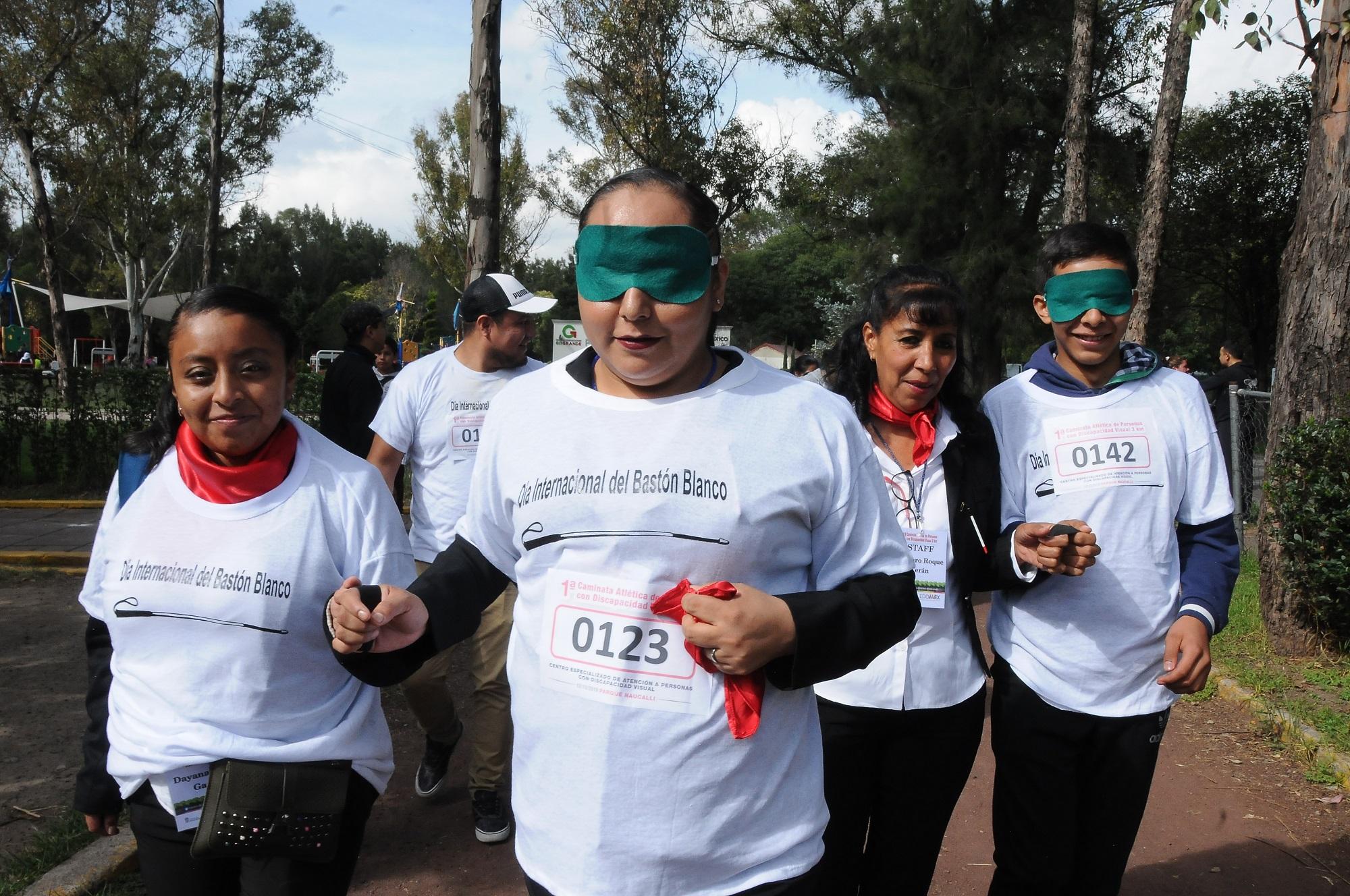 Realizan Caminata Atlética de personas con discapacidad visual