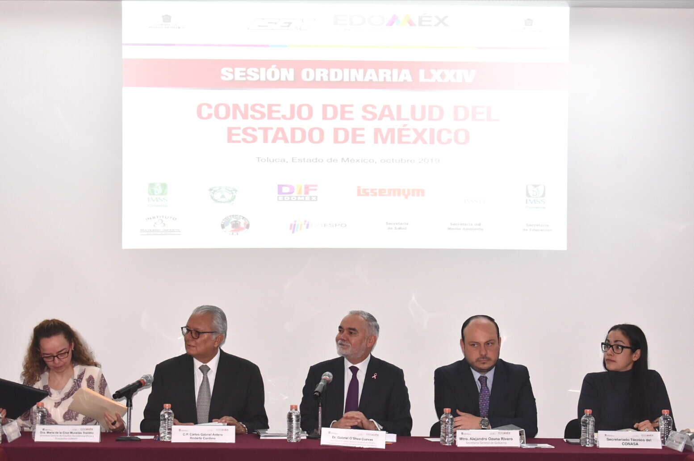Sesiona Consejo de Salud Del Edoméx con participación del CONAPO
