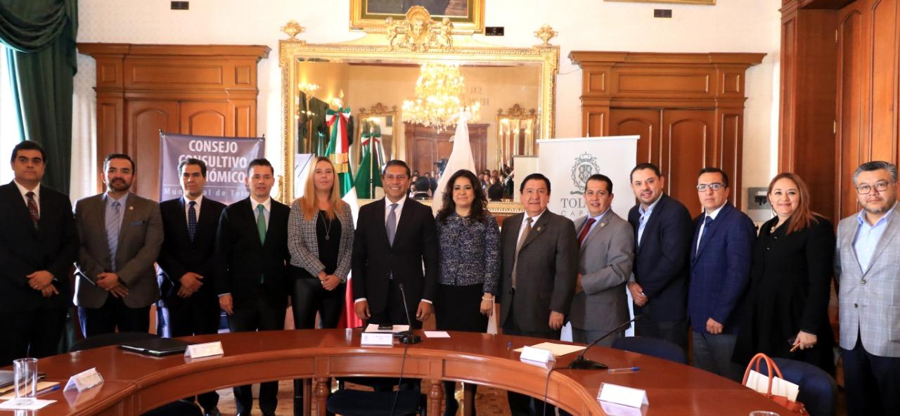 Con Consejo Consultivo Económico busca Toluca elevar la competitividad y productividad