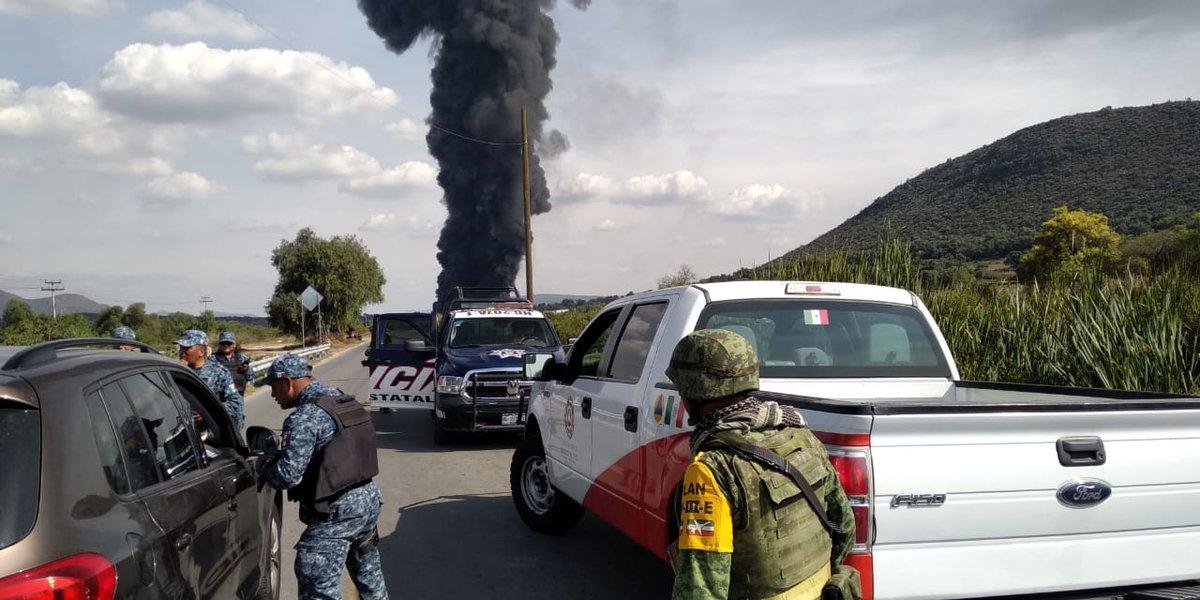 La CNPC informó esta mañana sobre un incendio por toma clandestina en el paraje El Rebombeo, en el poblado Juandhó.