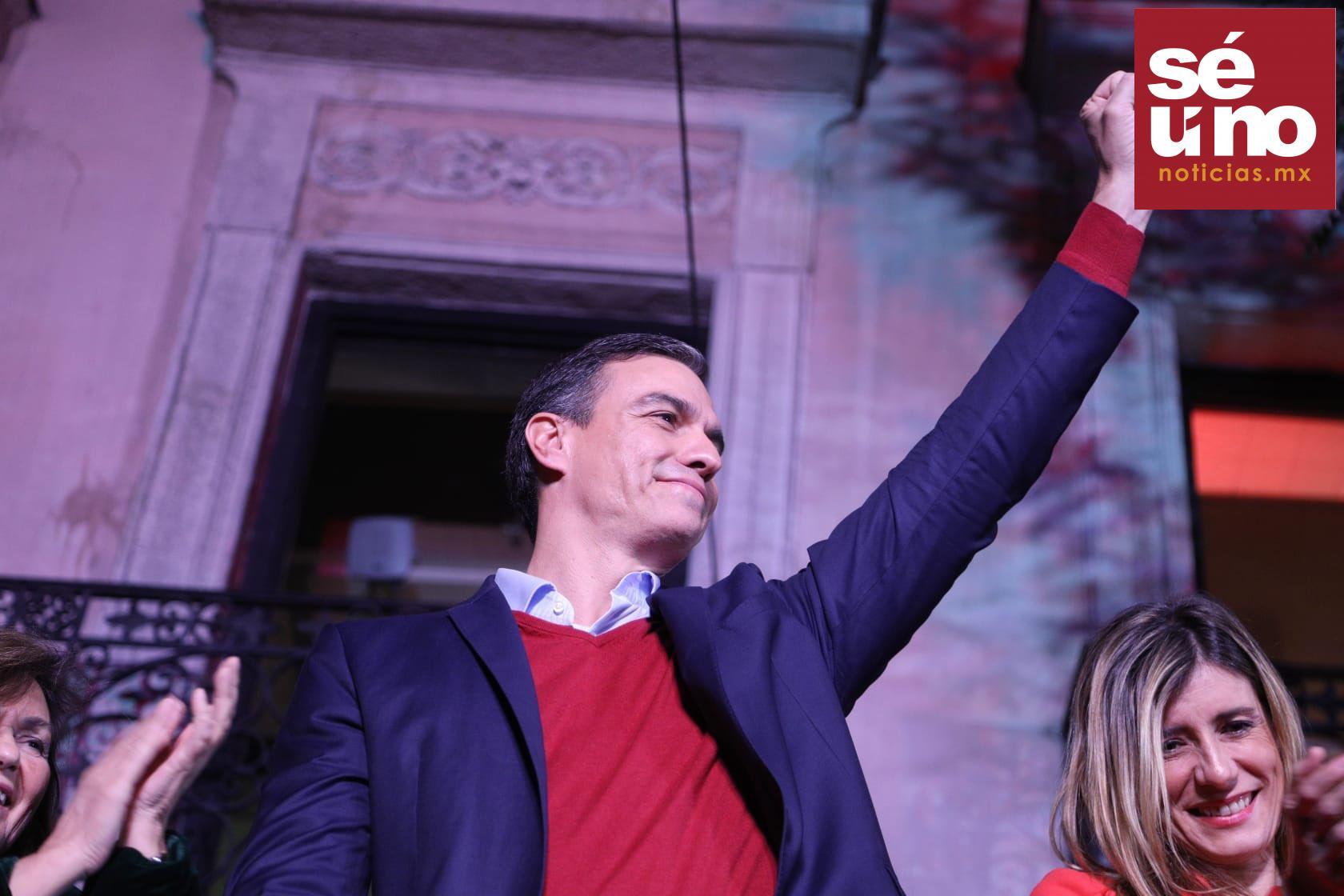 El candidato del Partido Socialista Obrero Español (PSOE) y presidente en funciones, Pedro Sánchez, ganó las elecciones generales de este domingo