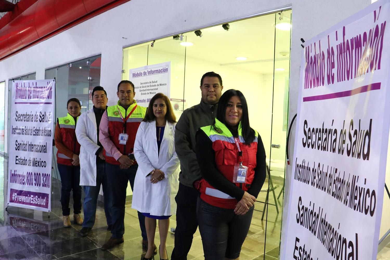 Mantienen vigilancia sanitaria en Aeropuerto de Toluca por coronavirus