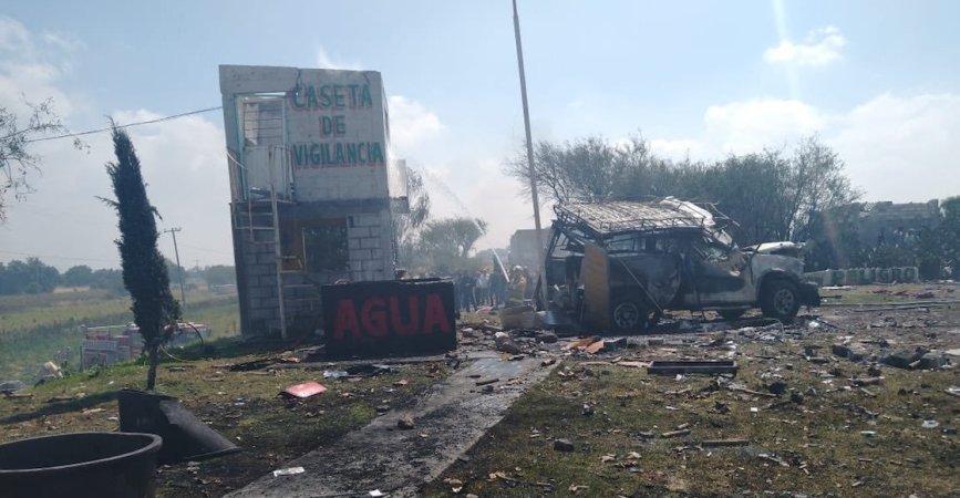 Fallece mujer que resulto gravemente lesionada en explosión en Zumpango