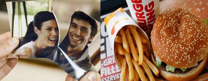 Burguer King te cambia las fotos de tu ex-novio por hamburguesas