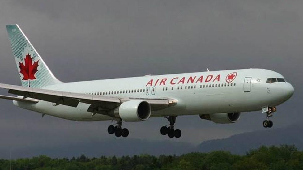 Avión de Air Canadá alerta de aterrizaje en España