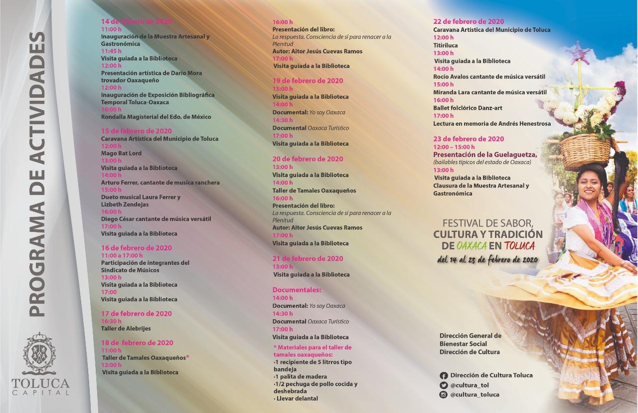 Festival de Sabor, Cultura y Tradición de Oaxaca en Toluca ¡No te la pierdas!