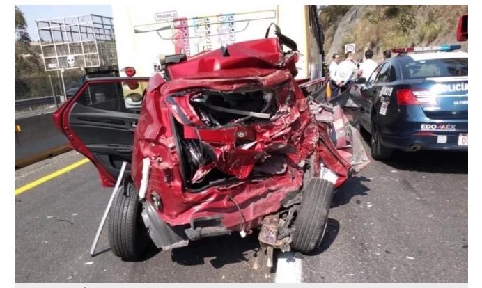 Choque múltiple en la autopista la Venta-Chamapa