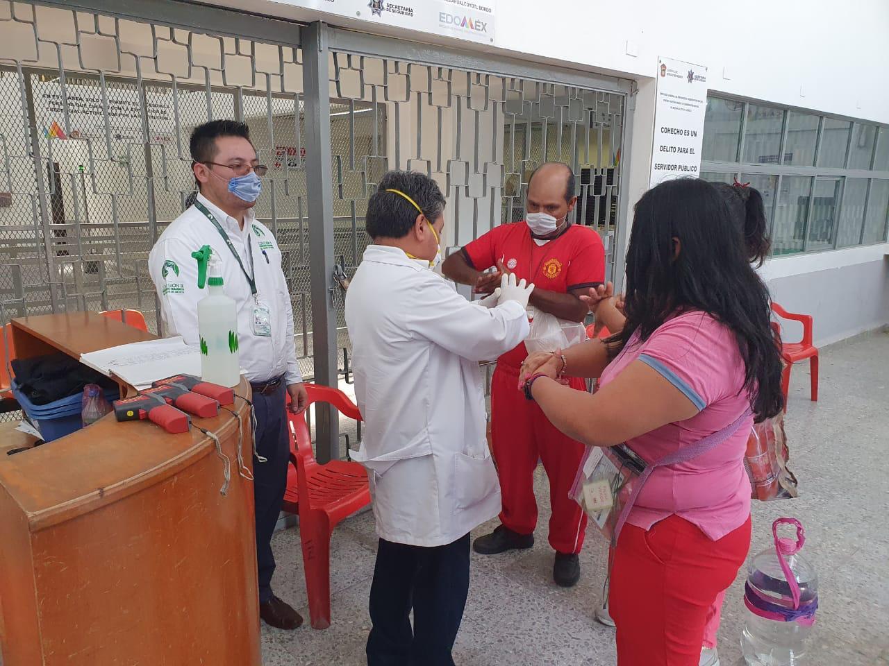 CODHEM verificó implementación de medidas contra COVID-19 en Centros de Prevención y Reinserción Social