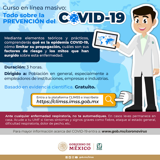 """""""Plan de acción para el hogar ante COVID-19"""", nuevo curso en la Plataforma CLIMSS"""